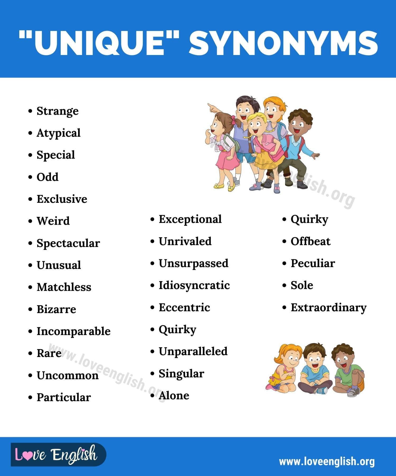 Unique Synonyms