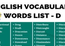 Words that Start with D