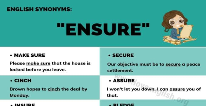 Ensure Synonyms