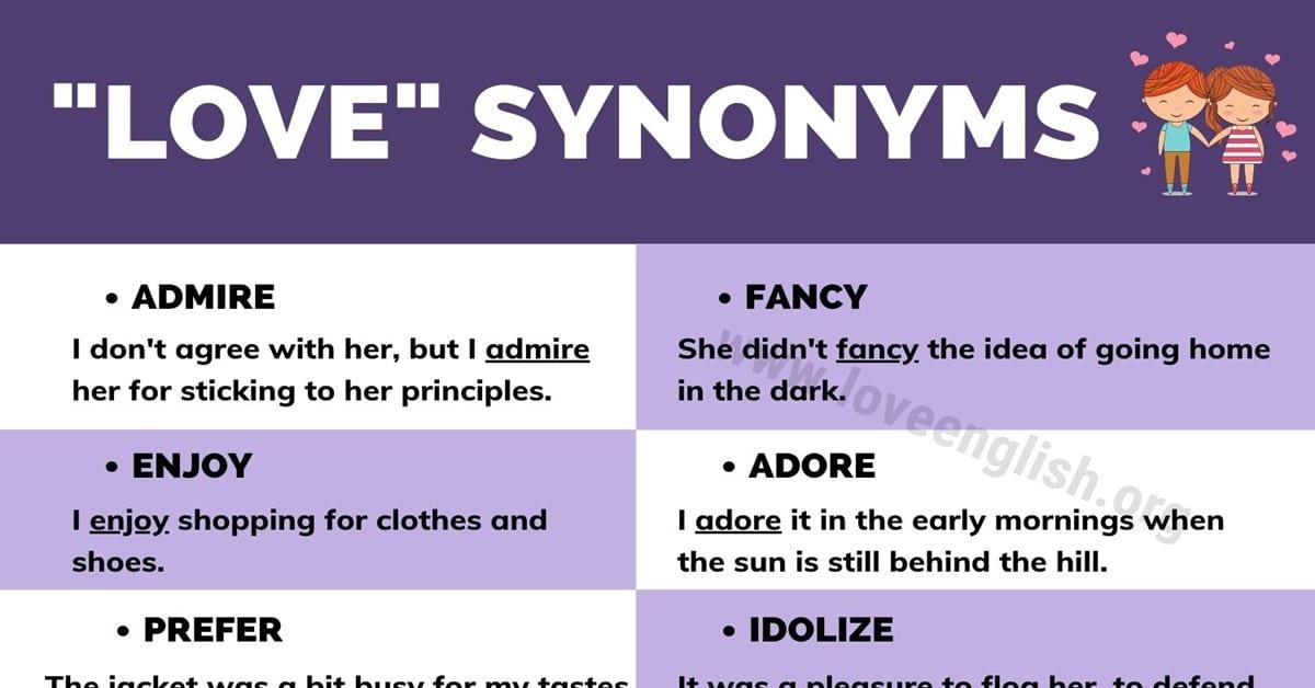 Love Synonyms