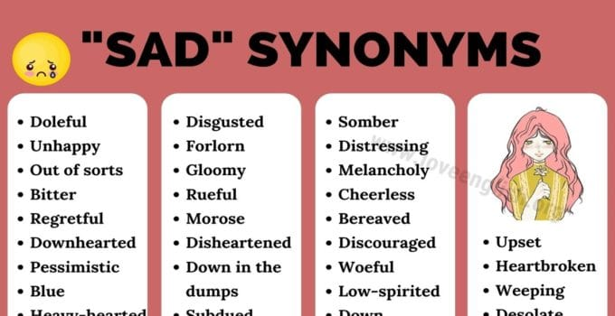 Sad Synonyms