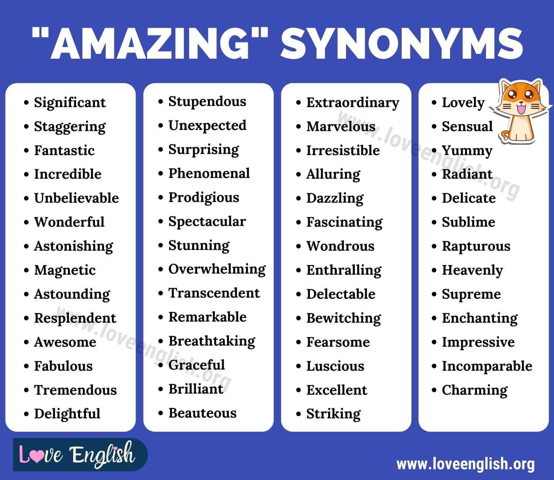 Amazing Synonyms