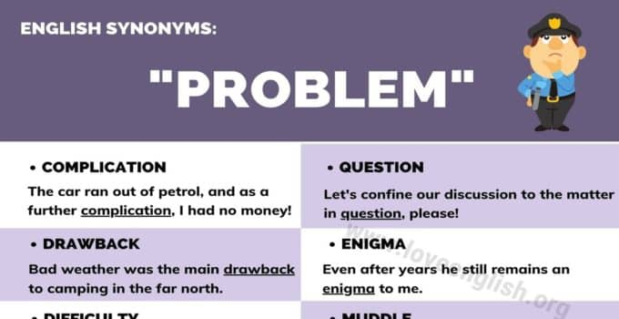 Problem Synonyms