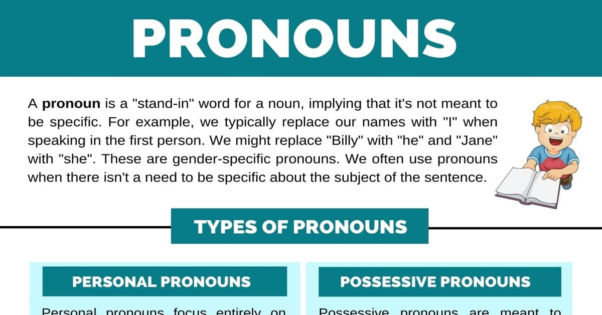 Pronoun | All Types of Pronouns and Helpful Rules 1